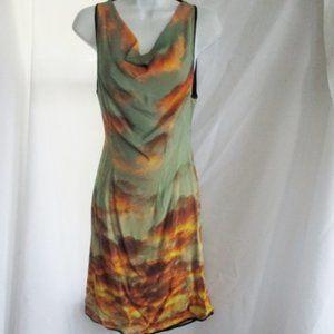 NWT New CHRISTOPHER KANE Silk CLOUD SUNSET Dress